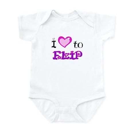 I Love to Flip Infant Bodysuit