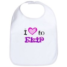 I Love to Flip Bib