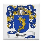 Poisson Family Crest Tile Coaster