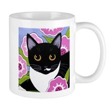 SASSY Black & White Tuxedo CAT Mug