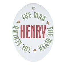 Henry Man Myth Legend Oval Ornament