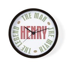 Henry Man Myth Legend Wall Clock