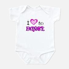 I Love to Dance Infant Bodysuit
