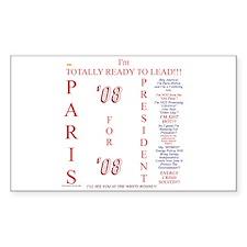 Paris '08 Rectangle Decal