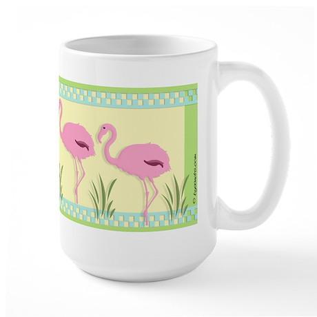 Hot Flamingos Large Mug
