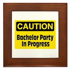Bachelor Party In Progress Framed Tile