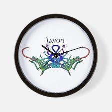 Javon's Celtic Dragons Name Wall Clock