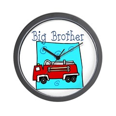 Firetruck Big Brother Wall Clock