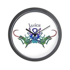 Javier's Celtic Dragons Name Wall Clock