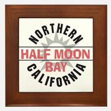 Half Moon Bay California Framed Tile