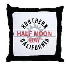 Half Moon Bay California Throw Pillow