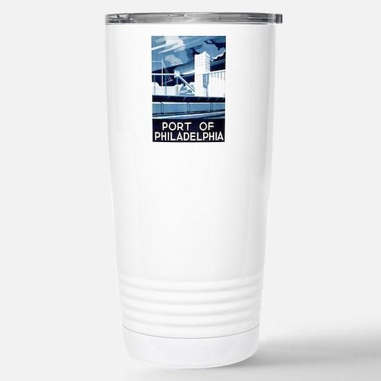 Port Of Philadelphia Stainless Steel Travel Mug