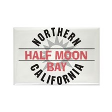 Half Moon Bay California Rectangle Magnet