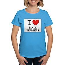 I love BLACK TERRIERS Tee
