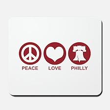 Peace Love Phiily Mousepad
