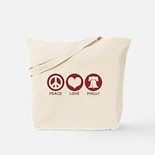 Peace Love Phiily Tote Bag