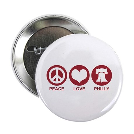 "Peace Love Phiily 2.25"" Button"