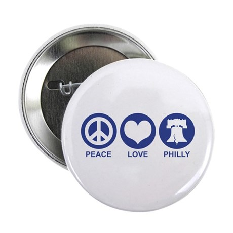 """Peace Love Phiily 2.25"""" Button"""