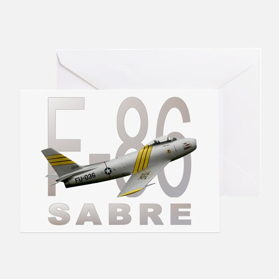 F-86 SABRE FIGHTER Greeting Card