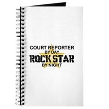 Court Reporter Rock Star by Night Journal