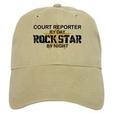 Court Reporter Rock Star by Night Baseball Cap