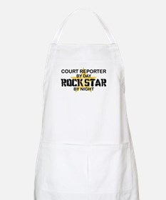Court Reporter Rock Star by Night BBQ Apron