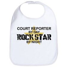 Court Reporter Rock Star by Night Bib