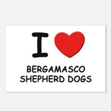 I love BERGAMASCO SHEPHERD DOGS Postcards (Package