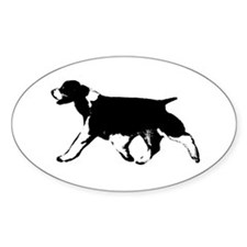 english springer spaniel Oval Decal