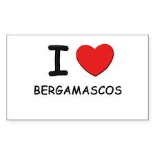 I love BERGAMASCOS Rectangle Decal