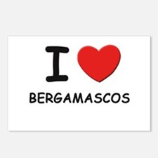 I love BERGAMASCOS Postcards (Package of 8)