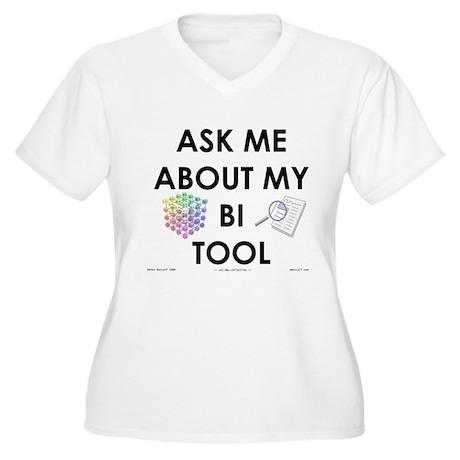 bi tool Women's Plus Size V-Neck T-Shirt