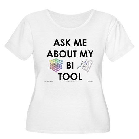 bi tool Women's Plus Size Scoop Neck T-Shirt