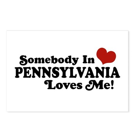 Somebody in Pennsylvania Loves Me Postcards (Packa