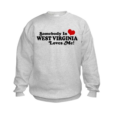 Somebody in West Virginia Loves me Kids Sweatshirt