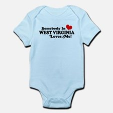 Somebody in West Virginia Loves me Infant Bodysuit