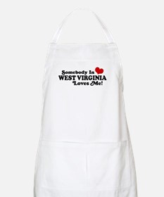 Somebody in West Virginia Loves me BBQ Apron