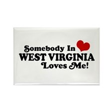 Somebody in West Virginia Loves me Rectangle Magne