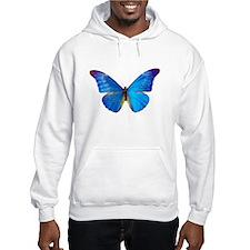Blue Butterfly Jumper Hoody