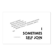 query - self joins Postcards (Package of 8)