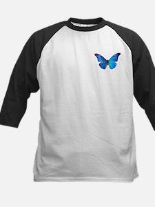Blue Butterfly Kids Baseball Jersey