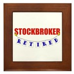Retired Stockbroker Framed Tile
