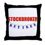 Retired Stockbroker Throw Pillow