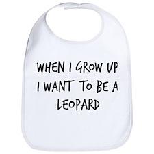 Grow up - Leopard Bib