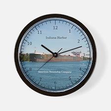 Indiana Harbor Wall Clock