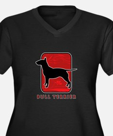 Bull Terrier Women's Plus Size V-Neck Dark T-Shirt