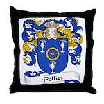 Pottier Family Crest Throw Pillow