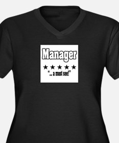 """Great Manager, Amazing Boss"" Women's Plus Size V-"