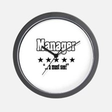 """Great Manager, Amazing Boss"" Wall Clock"