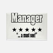 """Great Manager, Amazing Boss"" Rectangle Magnet"